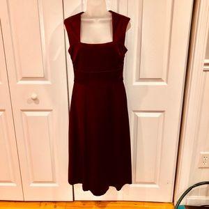 Cranberry Midi Cocktail Dress